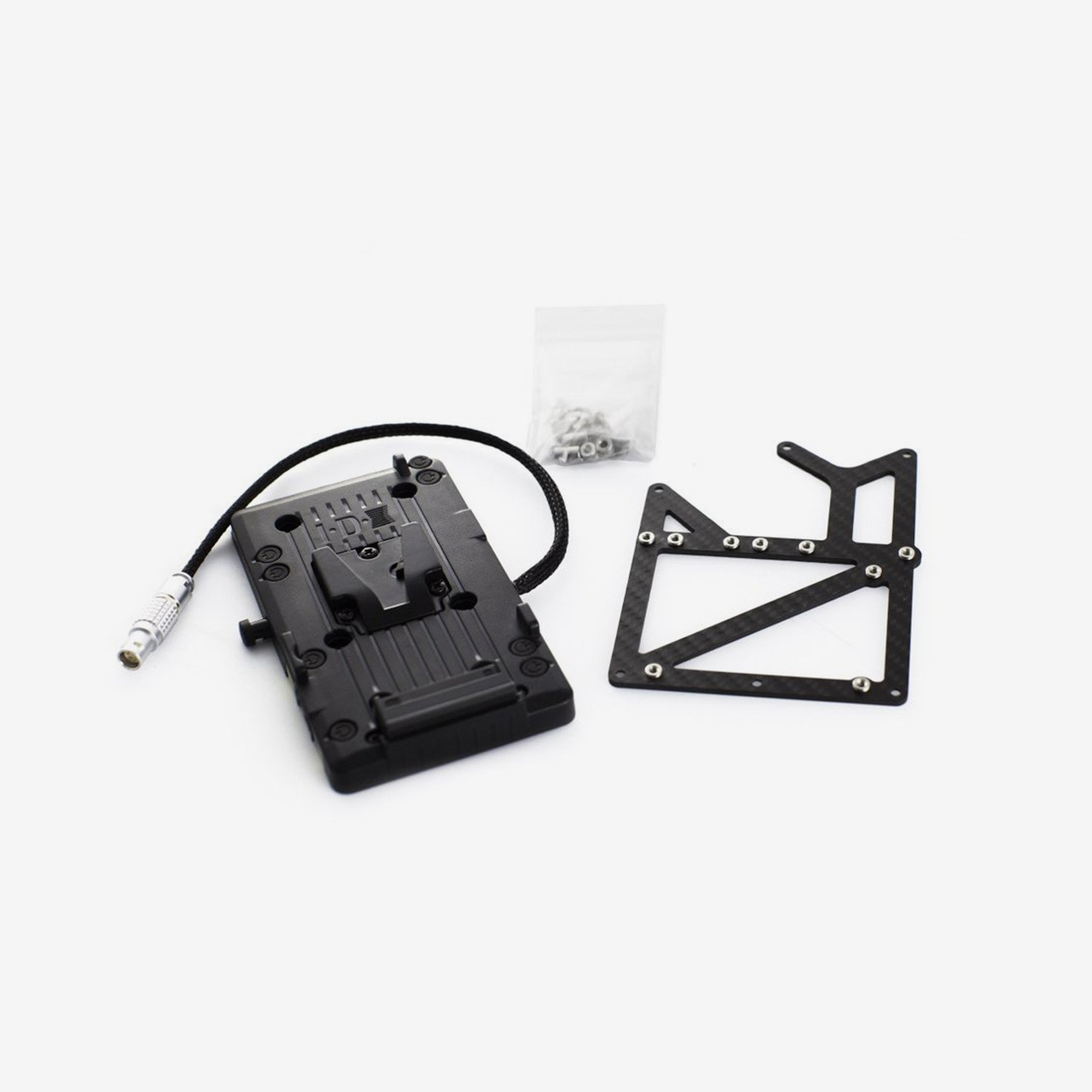 Carbon V-lock Adapter Kit for RED Epic (2 D-Tap)