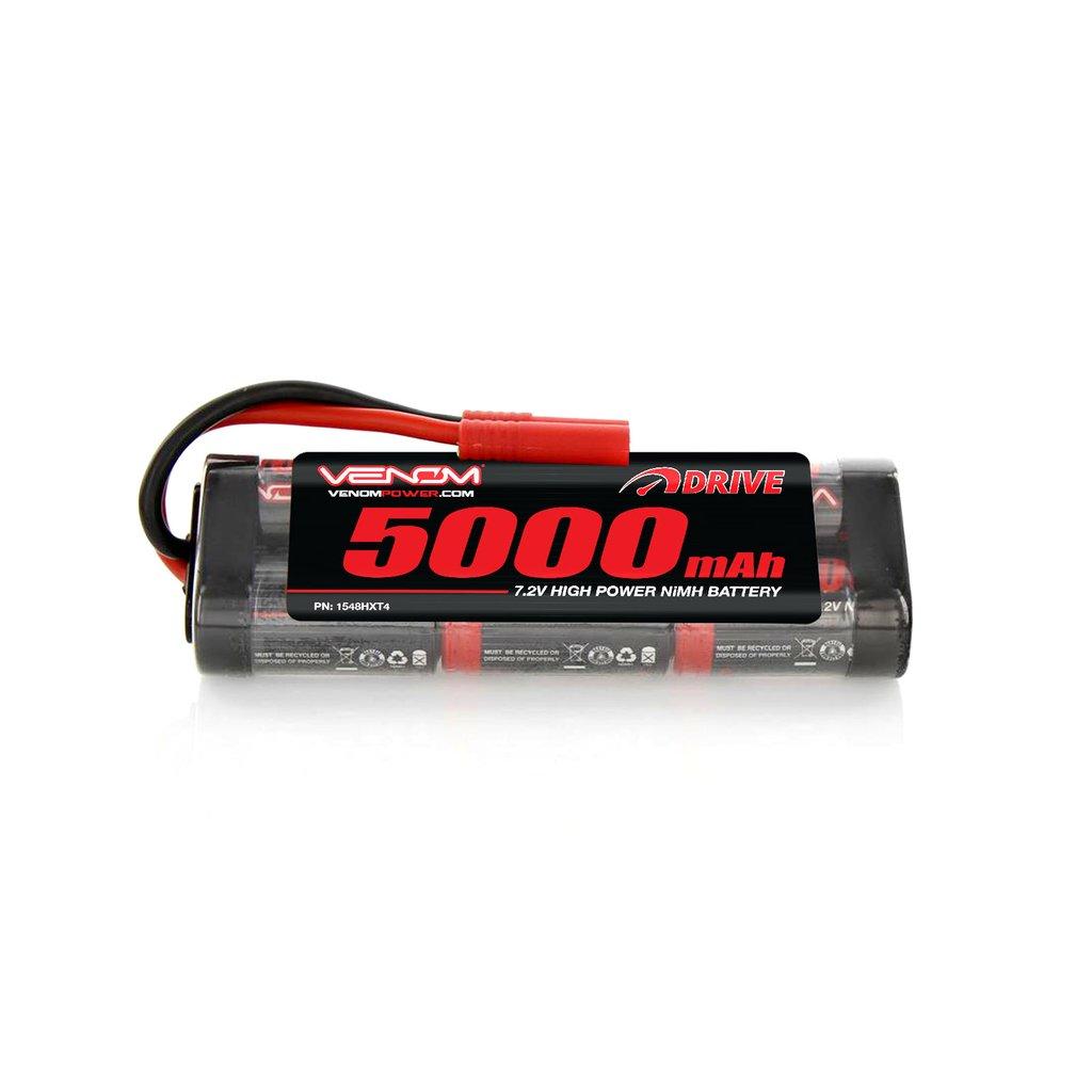 Venom 7.2V 5000mAh 6 Cell NiMH Battery with HXT 4.0mm Plug