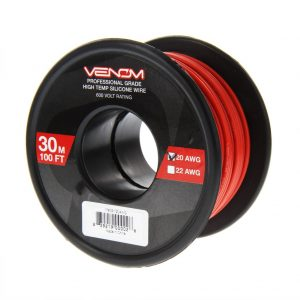 Venom 20AWG Soft Silicone High Strand Count Wire - Red - 30M / 100ft Roll