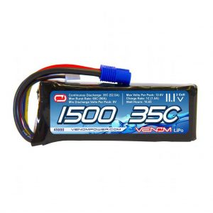 Venom Marine 35C 3S 1500mAh 11.1V LiPo Battery with EC3 Plug