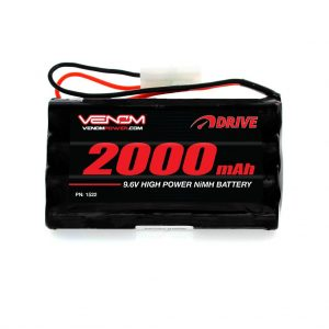 Venom 9.6V 2000mAh 8-Cell NiMH Battery for Popular 9.6V Toy RC Cars