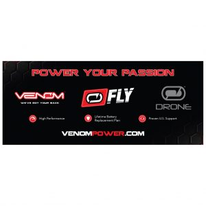 "Venom Fly and Drone Banner 72"" x 30"" - Black"