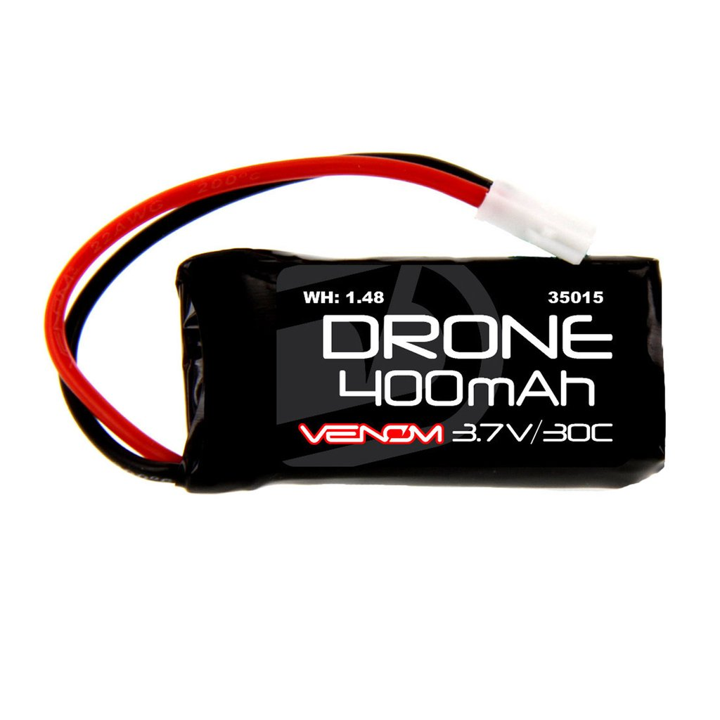 Venom 30C 1S 400mAh 3.7V LiPo Micro Drone Battery with Micro Losi Plug