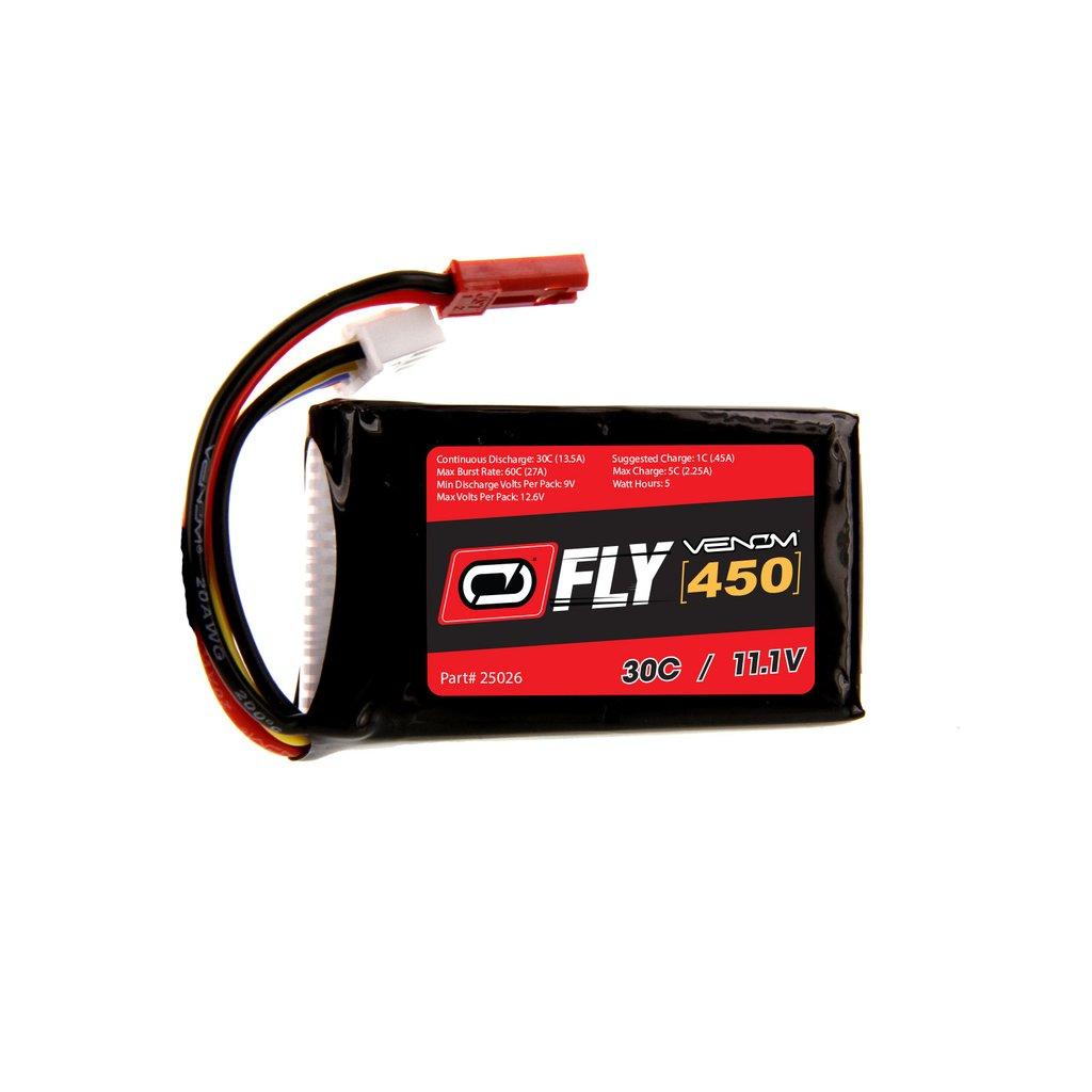 Venom 70C 3S 450mAh 11.1V LiPo Drone Battery with JST Plug