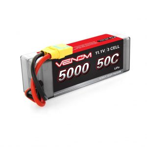 Venom 50C 3S 5000mAh 11.1 LiPo Hardcase Battery with XT90-S Plug