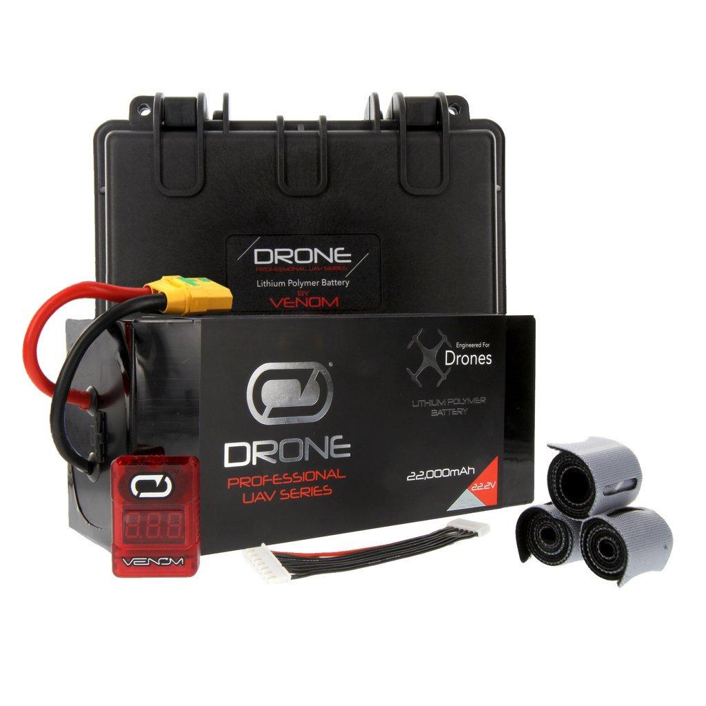 Venom 22000mAh 6S 22.2V Drone Professional Battery, 15C LiPo with XT90-S Plug