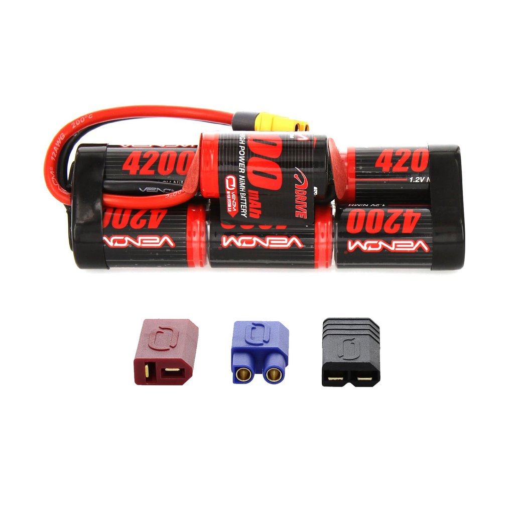 Venom 8.4V 4200mAh 7 Cell Hump Pack NiMH Battery with Universal Plug System