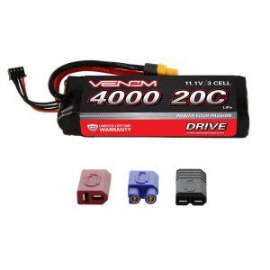 Venom 20C 3S 4000mAh 11.1V LiPo Battery with Universal Plug System