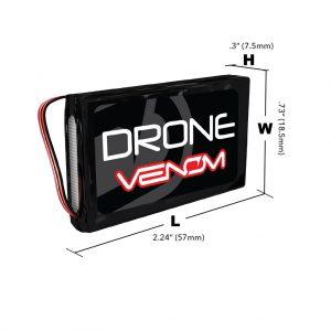 Venom 15C 1S 600mAh 3.7V LiPo Micro Drone Battery with JST Plug
