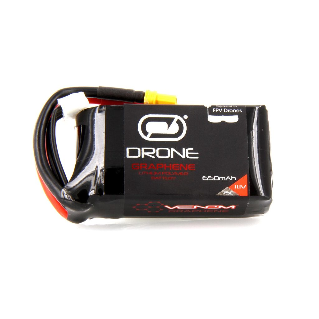Venom Graphene 75C 3S 650mAh 11.1V Drone Racing LiPo Battery with XT30 Plug