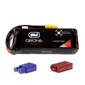 Venom 30C 3S 1400mAh 11.1V LiPo Drone Battery - Uni 2.0 (XT60, EC3, Deans) Plug