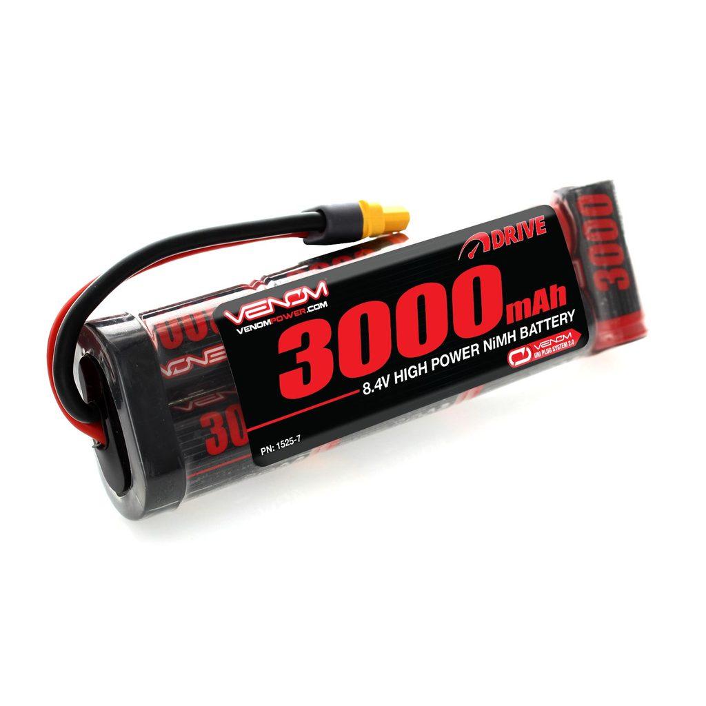 Venom 8.4V 3000mAh 7 Cell NiMH Battery Flat Pack with Universal Plug System