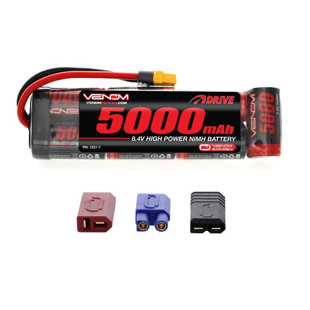 Venom 8.4V 5000mAh 7 Cell NiMH Battery Flat Pack with Universal Plug System