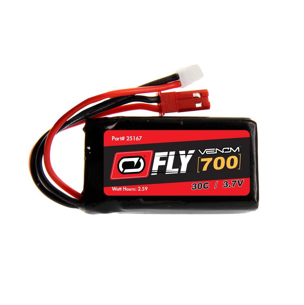 Venom Fly 30C 1S 700mAh 3.7V LiPo Battery with Micro Losi and JST Plug