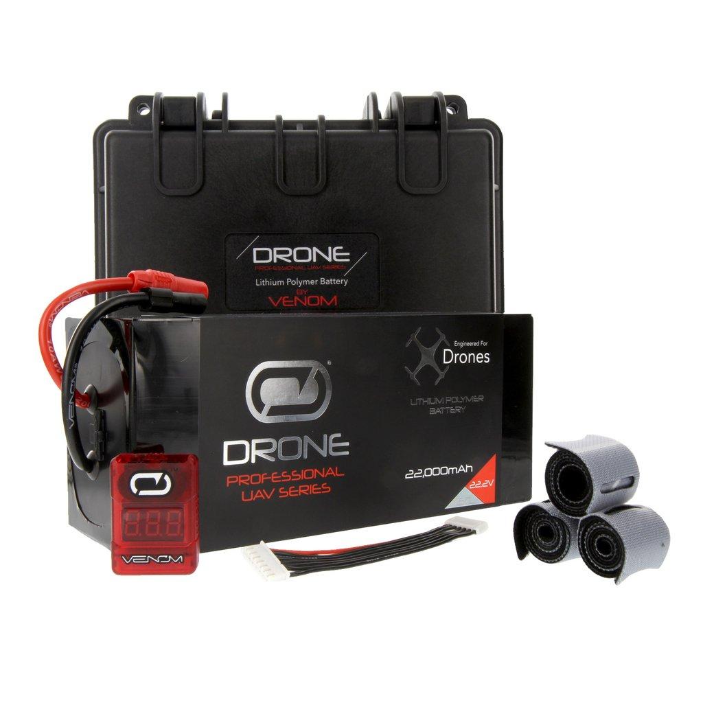 Venom 22000mAh 6S 22.2V Drone Professional Battery, 15C LiPo with XT150/AS150