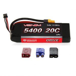 Venom 20C 2S 5400mAh 7.4V LiPo Battery with Universal Plug System
