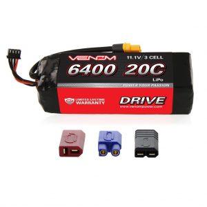 Venom 20C 3S 6400mAh 11.1V LiPo Battery with Universal Plug System
