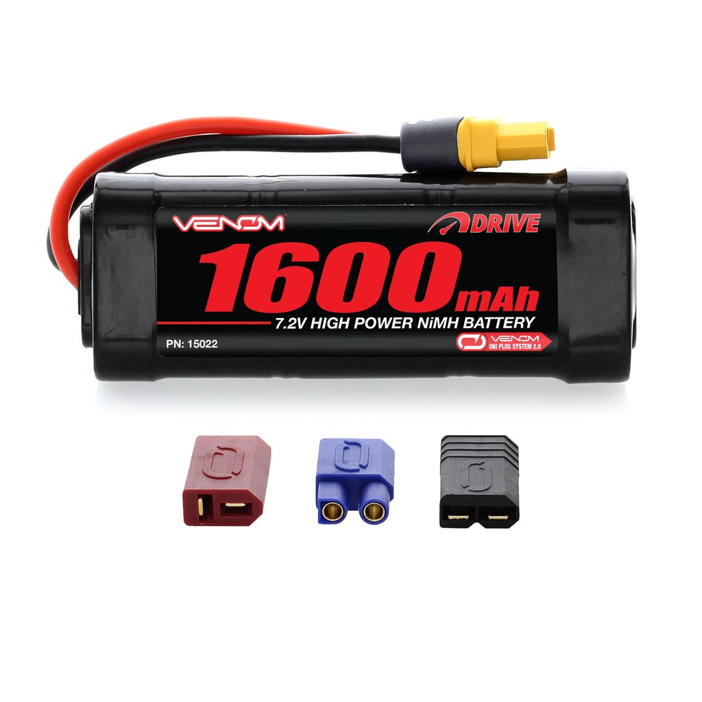Venom 7.2V 1600mAh 6 Cell NiMH Battery with Universal Plug System