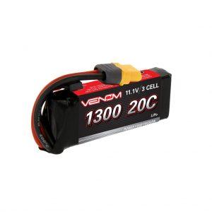 Venom 20C 3S 1300mAh 11.1V LiPo Battery with Universal Plug System