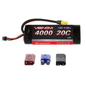 Venom 20C 2S 4000mAh 7.4V LiPo Battery for Tamiya Cars