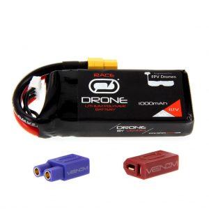 Venom 50C 3S 1000mAh 11.1V FPV Drone Racing LiPo Battery (XT60, EC3, Deans Plug)
