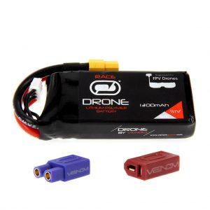 Venom 50C 3S 1300mAh 11.1V FPV Drone Racing LiPo Battery (XT60, EC3, Deans Plug)