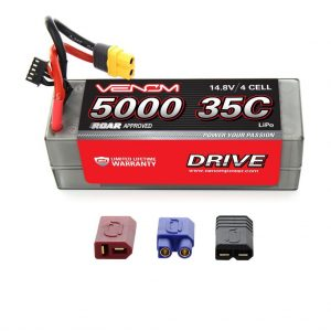 Venom 35C 4S 5000mAh 14.8V Hard Case RC LiPo Battery ROAR Approved with UNI Plug