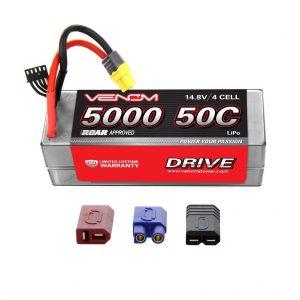 Venom 50C 4S 5000mAh 14.8V Hard Case LiPo Battery ROAR Approved with UNI Plug