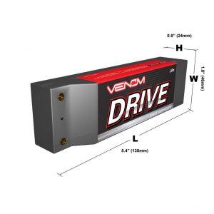 Venom 50C 2S 5000mAh 7.4V Hard Case LiPo Battery ROAR Approved with UNI Plug