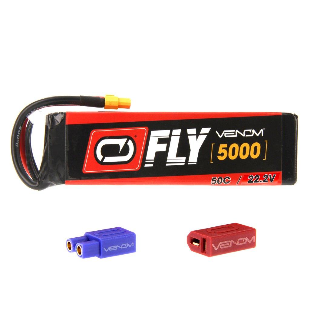 Venom Fly 50C 6S 5000mAh 22.2V LiPo Battery with UNI 2.0 Plug