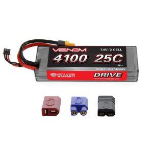 Venom 25C 2S 4100mAh 7.4V Hard Case LiPo Battery with Universal Plug System