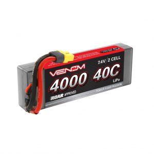 Venom Sport Power 40C 2S 4000mAh 7.4V LiPo Battery ROAR Approved with UNI Plug