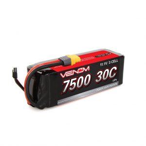 Venom 30C 3S 7500mAh 11.1V 3 Cell RC LiPo Battery Traxxas Deans Tamiya EC3 Plug