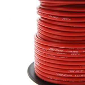 Venom 12AWG Soft Silicone High Strand Count Wire - Red - 30M / 100ft Roll