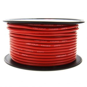 Venom 14AWG Soft Silicone High Strand Count Wire - Red - 30M / 100ft Roll