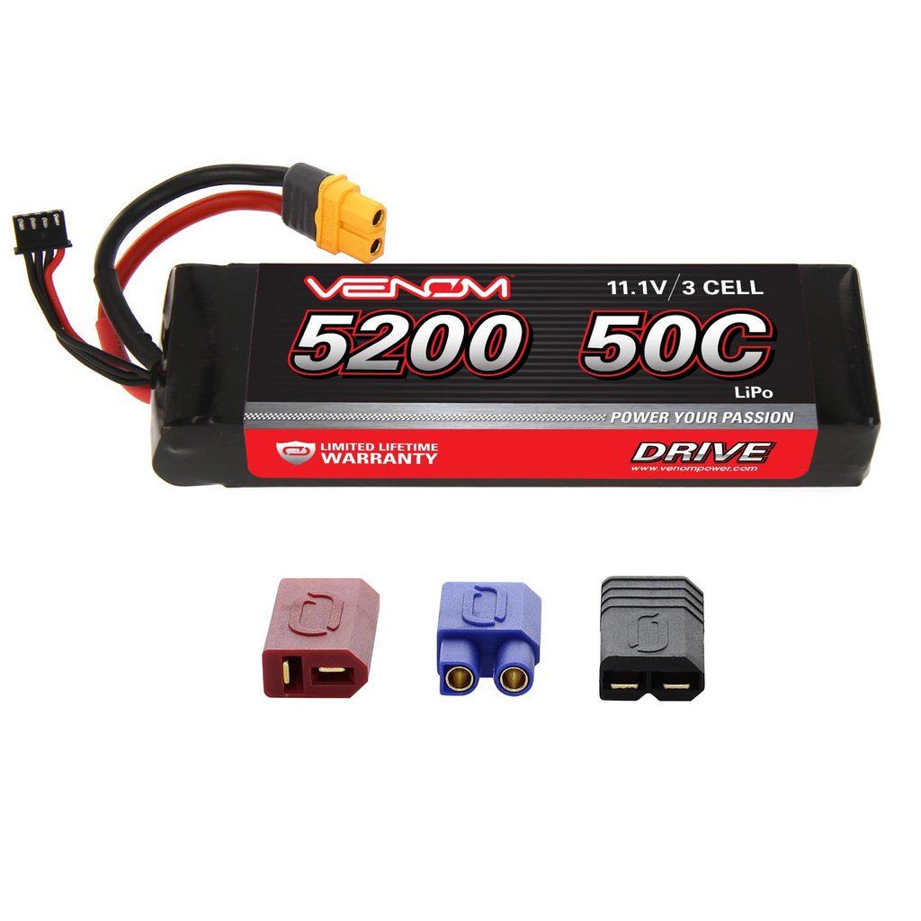 Venom 50C 3S 5200mAh 11.1V LiPo Battery with Universal Plug