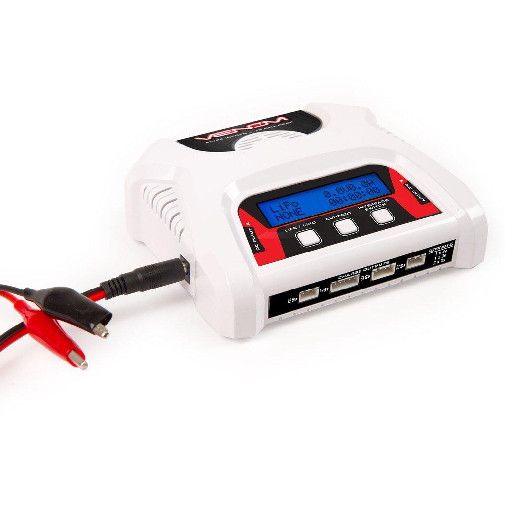 Venom 2-4 Cell AC/DC Dual LiPo Battery Balance Charger