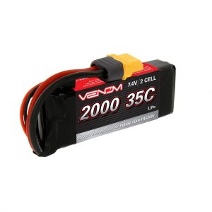 Venom 35C 2S 2000mAh 7.4V LiPo Battery with Universal Plug