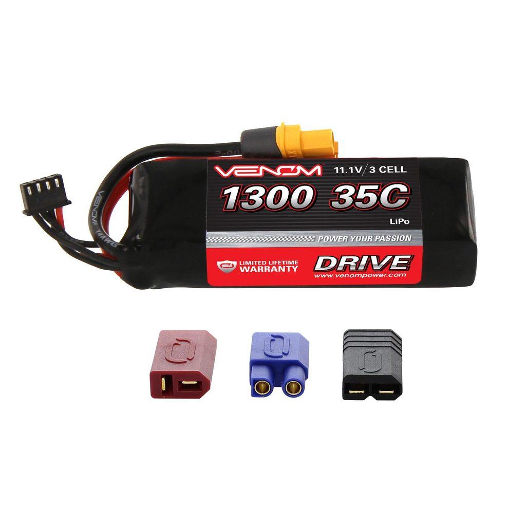 Venom 35C 3S 1300mAh 11.1V LiPo Battery with Universal Plug