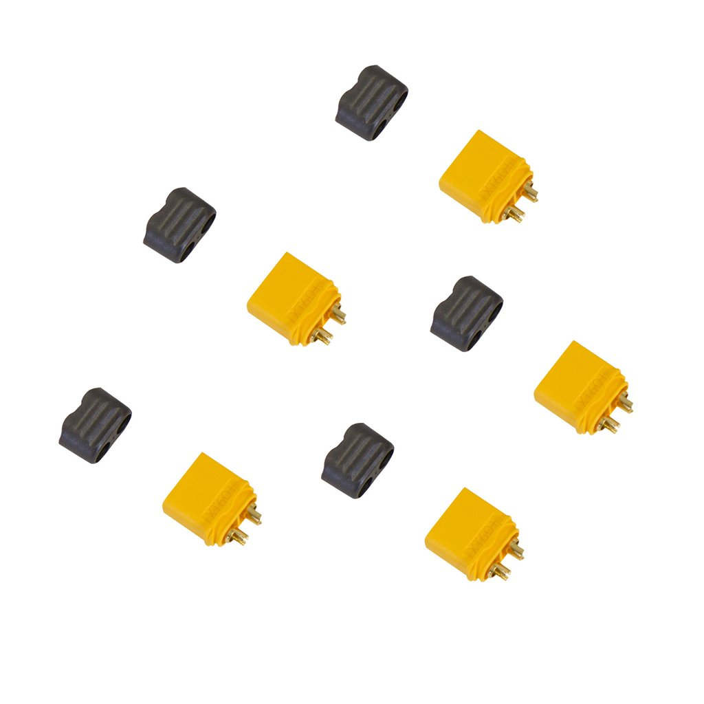 Amass XT60+ Male Battery Connector Plug for Device ESC or Charge Lead – 5 Pieces