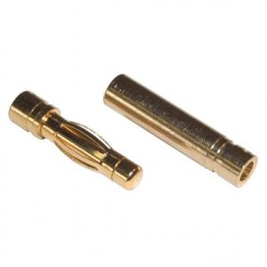 Venom Micro Bullet Plug 4.0mm for 12awg wire (3 Sets)