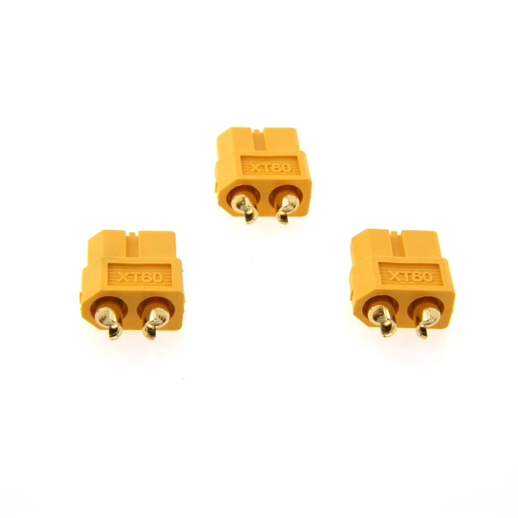 Amass XT60 Female Battery Connector – 3 pieces
