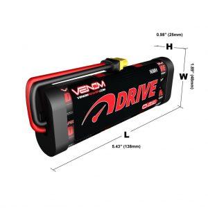 Venom 7.2V 4600mAh 6 Cell NiMH Battery with Universal Plug System