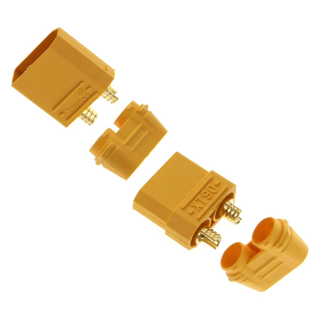 Amass XT90 Male and Female Connector Plug for Battery ESC and Charge Lead 1 Pair