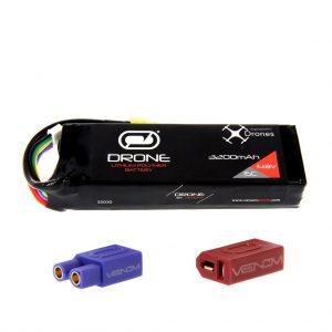 Venom 15C 4S 3200mAh 14.8V LiPo Drone Battery - Uni 2.0 (XT60, EC3, Deans) Plug