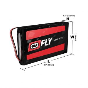 Venom Fly 30C 2S 800mAh 7.4V LiPo Battery with JST Plug for RC Planes and Helis